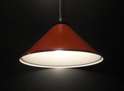 Retro Oranje Hoed Lamp