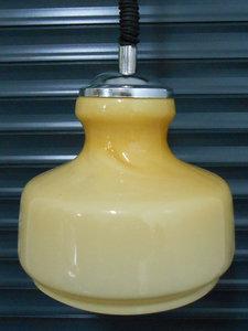 Vintage Italiaans Design Glazen Hanglamp 1