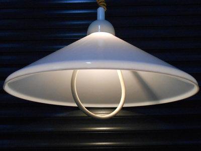 Witte Vintage Hanglamp Model Hoed 2