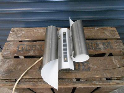 Vintage Design RVS Witte RAAK Wandlamp 1