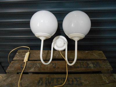 Klassiek Retro Witte Bol Wandlamp 1
